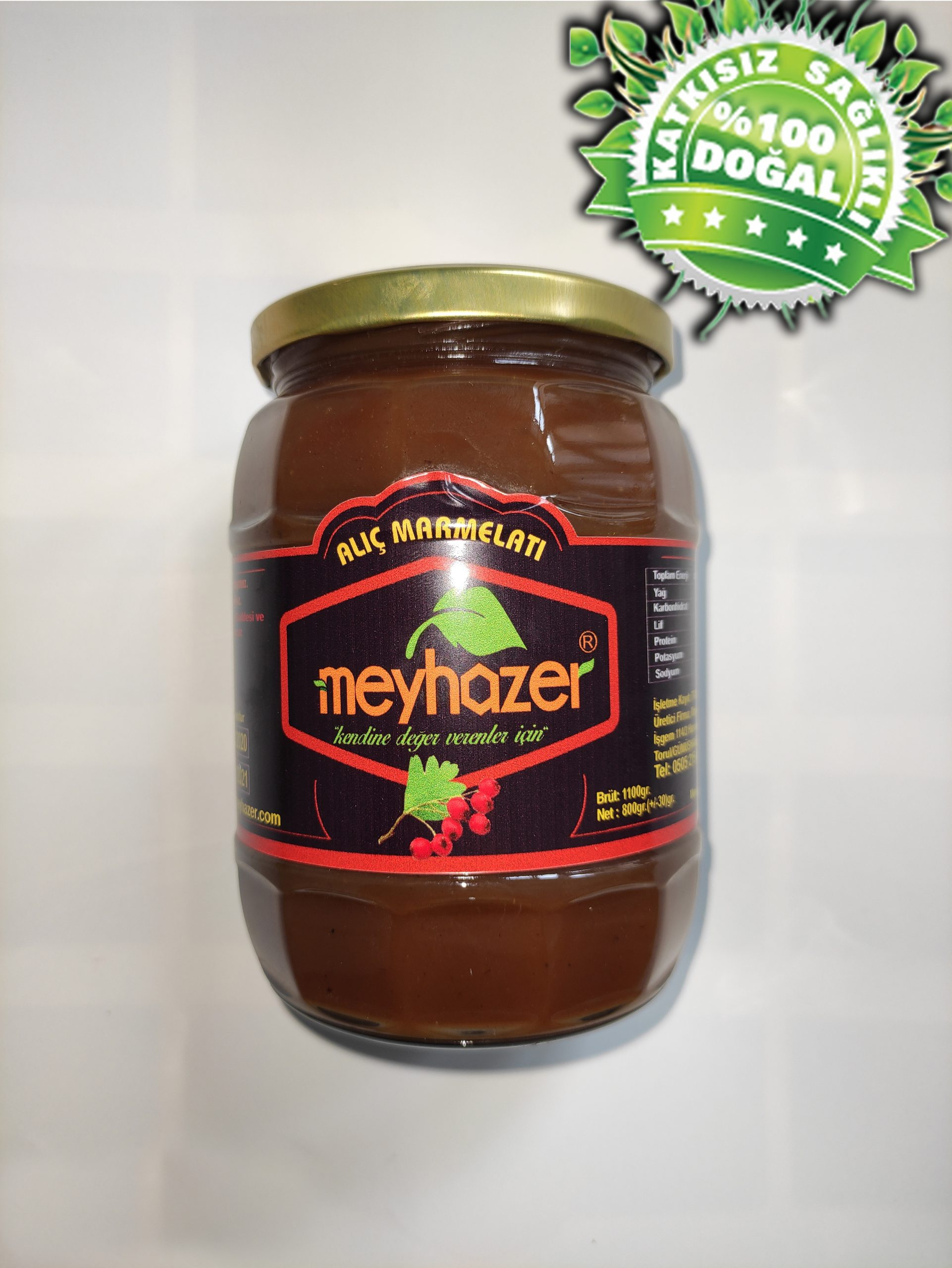 Doğal Alıç Marmelatı 800 gr.